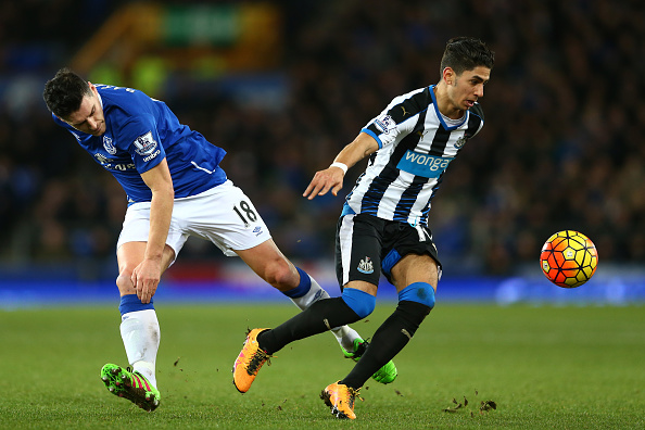 during the Barclays Premier League match between Everton and Newcastle United at Goodison Park on February 3, 2016 in Liverpool, England.