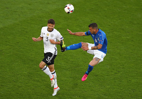 during the UEFA EURO 2016 quarter final match between Germany and Italy at Stade Matmut Atlantique on July 2, 2016 in Bordeaux, France.