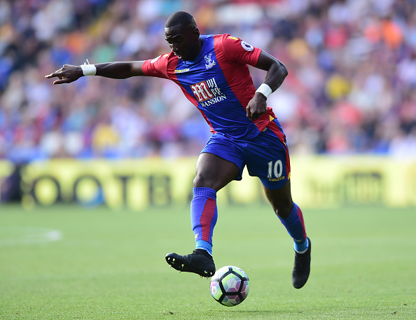 LONDON, ENGLAND - AUGUST 13:  Yannick Bolasie of Crystal Palace in action during the Premier League match between Crystal Palace and West Bromwich Albion at Selhurst Park on August 13, 2016 in London, England. (Photo by Alex Broadway/Getty Images)