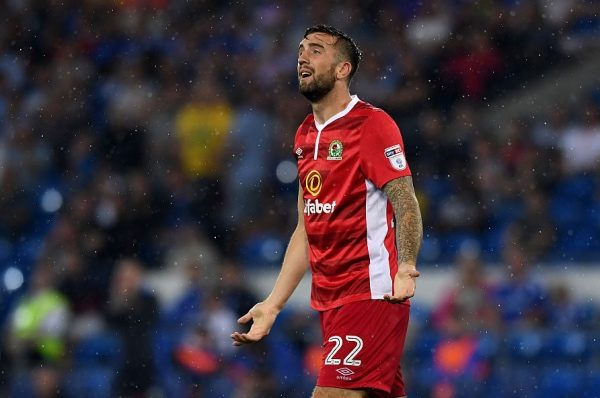 CARDIFF, WALES - AUGUST 17:  Shane Duffy of Blackburn reacts during the Sky Bet Championship match between Cardiff City and Blackburn Rovers at Cardiff City Stadium on August 17, 2016 in Cardiff, Wwales..  (Photo by Stu Forster/Getty Images)