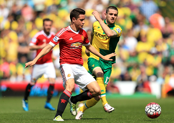 xxxx during the Barclays Premier League match between Norwich City and Manchester United at Carrow Road on May 7, 2016 in Norwich, England.