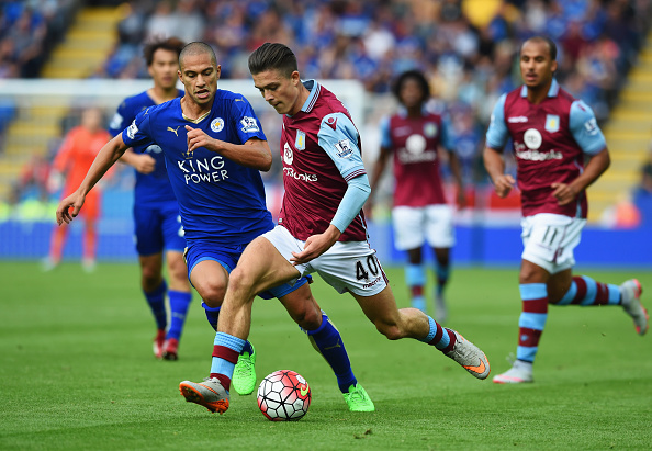 during the Barclays Premier League match between Leicester City and Aston Villa at the King Power Stadium on September 13, 2015 in Leicester, United Kingdom.