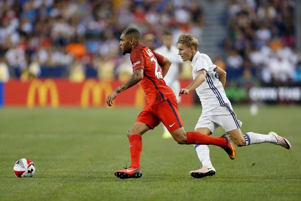 COLUMBUS, OH - JULY 27:  Layvin Kurzawa #20 of Paris Saint-Germain F.C and Martin Odegaard #26 of Real Madrid C.F. chase after the ball during the second half on July 27, 2016 at Ohio Stadium in Columbus, Ohio. Paris Saint-Germain F.C. defeated Real Madrid C.F. 3-1. (Photo by Kirk Irwin/Getty Images)