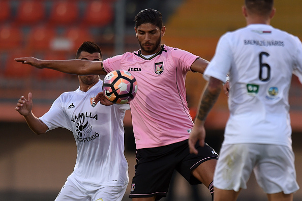 BALMAZUJVAROS, HUNGARY - JULY 22:   Ashraf Lazaar of Palermo in action during the pre-season friendly match between US Citta' di Palermo and Balmazujvarosi Fc at Balmazujvarosi Varosi Sportpalya on July 22, 2016 in Balmazujvaros, Hungary.  (Photo by Tullio M. Puglia/Getty Images)