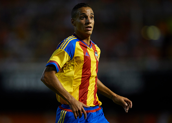VALENCIA, SPAIN - AUGUST 08:  Rodrigo Moreno of Valencia looks on during the pre-season friendly match between Valencia CF and AS Roma at Estadio Mestalla on August 8, 2015 in Valencia, Spain.  (Photo by Manuel Queimadelos Alonso/Getty Images)