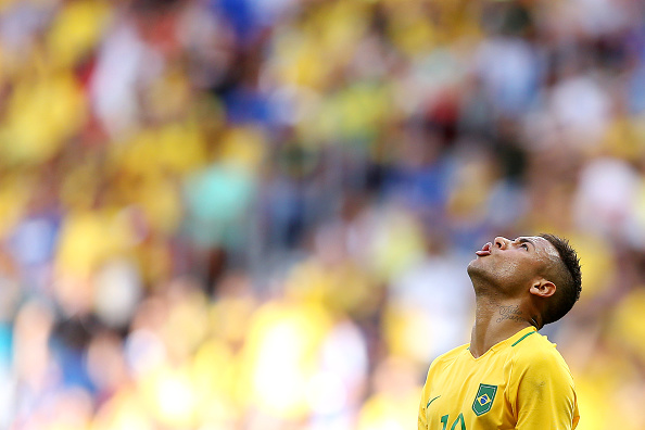 BRASILIA, BRAZIL - AUGUST 04: Neymar Jr Brazil at Mane Garrincha Stadium on August 4, 2016 in Brasilia, Brazil. (Photo by Celso Junior/Getty Images)