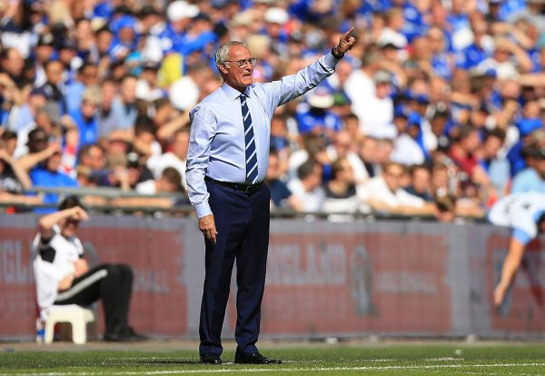 LONDON, ENGLAND - AUGUST 07: Manager of Leicester City, Claudio Ranieri gives his team instructions from the sideline during The FA Community Shield match between Leicester City and Manchester United at Wembley Stadium on August 7, 2016 in London, England.  (Photo by Ben Hoskins/Getty Images)