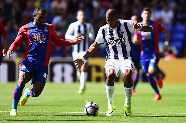 during the Premier League match between Crystal Palace and West Bromwich Albion at Selhurst Park on August 13, 2016 in London, England.