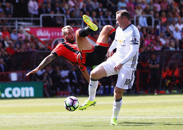 during the Premier League match between AFC Bournemouth and Manchester United at Vitality Stadium on August 14, 2016 in Bournemouth, England.