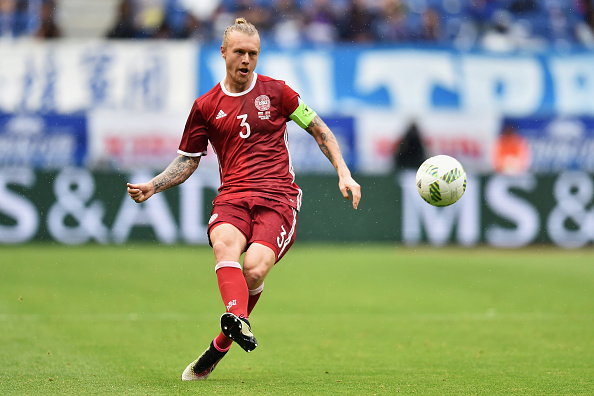 SUITA, JAPAN - JUNE 07:  Simon Kjaer of Denmark in action during the international friendly match between Denmark and Bulgaria at the Suita City Football Stadium on June 7, 2016 in Suita, Osaka, Japan.  (Photo by Atsushi Tomura/Getty Images)