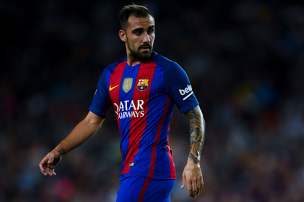 BARCELONA, SPAIN - SEPTEMBER 10:  Paco Alcacer of FC Barcelona looks on during the La Liga match between FC Barcelona and Deportivo Alaves at Camp Nou stadium on September 10, 2016 in Barcelona, Spain.  (Photo by David Ramos/Getty Images)