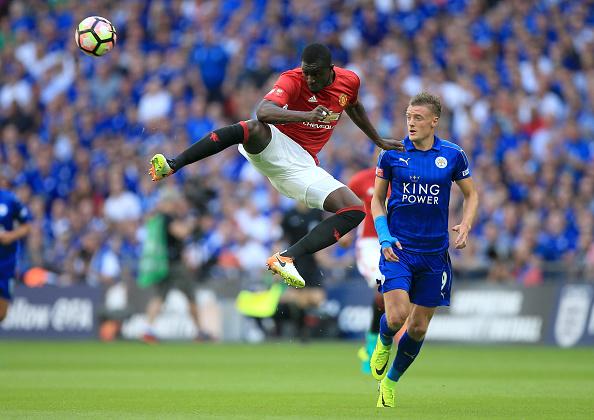during The FA Community Shield match between Leicester City and Manchester United at Wembley Stadium on August 7, 2016 in London, England.