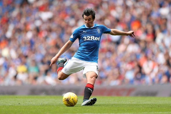GLASGOW, SCOTLAND - AUGUST 06: Joey Barton of Rangers  during the Ladbrokes Scottish Premiership match between Rangers and Hamilton Academical at Ibrox Stadium on August 6, 2016 in Glasgow, Scotland. (Photo by Lynne Cameron/Getty Images)