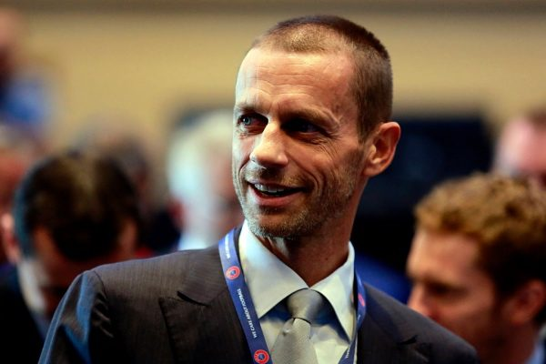 ATHENS, GREECE - SEPTEMBER14: President of the Football Association of Slovenia and candidate for the UEFA presidency Aleksander Ceferin geticulate during the opening of the 12th Extraordinary UEFA congress in  in Athens, Greece  14 September 2016.   (Photo by Milos Bicanski/Getty Images)