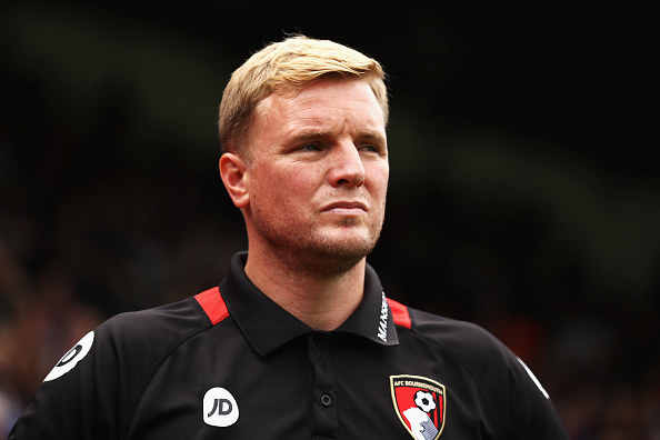 LONDON, ENGLAND - AUGUST 27:  Eddie Howe, Manager of AFC Bournemouth looks on during the Premier League match between Crystal Palace and AFC Bournemouth at Selhurst Park on August 27, 2016 in London, England.  (Photo by Bryn Lennon/Getty Images)