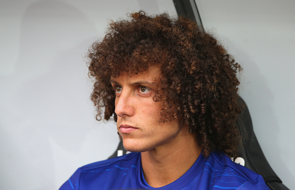 SWANSEA, WALES - SEPTEMBER 11:  David Luiz of Chelsea looks on from the bench prior to the Premier League match between Swansea City and Chelsea at Liberty Stadium on September 11, 2016 in Swansea, Wales.  (Photo by Alex Livesey/Getty Images)