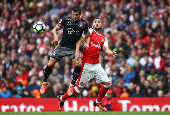 during the Premier League match between Arsenal and Southampton at Emirates Stadium on September 10, 2016 in London, England.