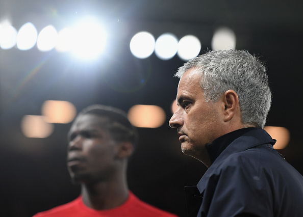 MANCHESTER, ENGLAND - SEPTEMBER 29:  Jose Mourinho, Manager of Manchester United looks on prior to kickoff during the UEFA Europa League group A match between Manchester United FC and FC Zorya Luhansk at Old Trafford on September 29, 2016 in Manchester, England.  (Photo by Laurence Griffiths/Getty Images)