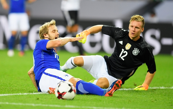 during the International Friendly match between Germany and Finland at Borussia-Park on August 31, 2016 in Moenchengladbach, Germany.