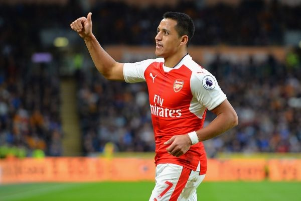 HULL, ENGLAND - SEPTEMBER 17:  Alexis Sanchez of Arsenal celebrates scoring his sides third goal during the Premier League match between Hull City and Arsenal at KCOM Stadium on September 17, 2016 in Hull, England.  (Photo by Tony Marshall/Getty Images)