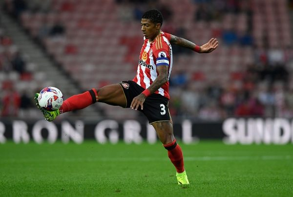 SUNDERLAND, ENGLAND - AUGUST 24:  Sunderland player Patrick van Aanholt in action during the EFL Cup Round Two match between Sunderland and Shrewsbury Town at Stadium of Light on August 24, 2016 in Sunderland, England.  (Photo by Stu Forster/Getty Images)