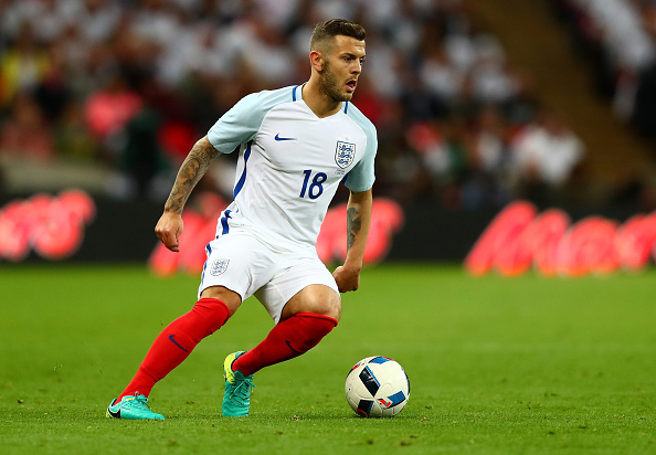 LONDON, ENGLAND - JUNE 02:  Jack Wilshere of England in action during the international friendly match between England and Portugal at Wembley Stadium on June 2, 2016 in London, England.  (Photo by Clive Rose/Getty Images)