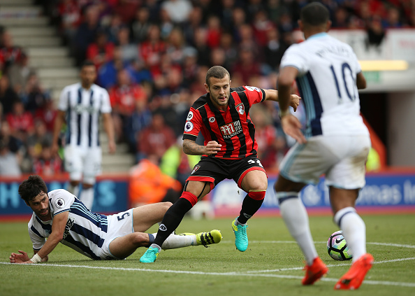 during the Premier League match between AFC Bournemouth and West Bromwich Albion at Vitality Stadium on September 10, 2016 in Bournemouth, England.