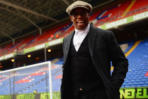 LONDON, ENGLAND - MARCH 14: Commentator Ian Wright smiles prior to the Barclays Premier League match between Crystal Palace and Queens Park Rangers at Selhurst Park on March 14, 2015 in London, England.  (Photo by Christopher Lee/Getty Images)
