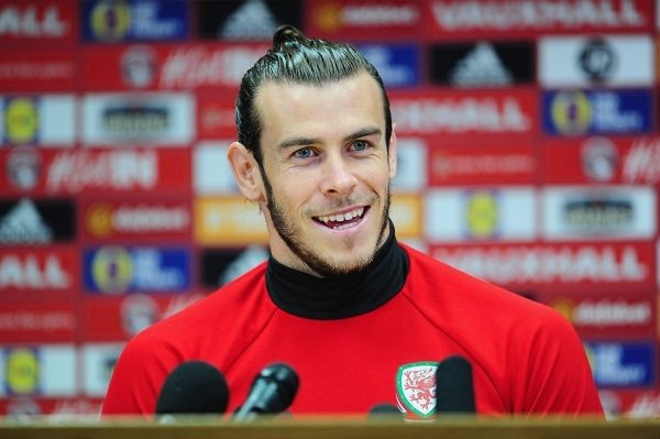 CARDIFF, UNITED KINGDOM - OCTOBER 08: Gareth Bale of Wales looks on during a Wales Press Conferenceat the Cardiff City Stadium on October 8, 2016 in Cardiff, United Kingdom. (Photo by Harry Trump/Getty Images)