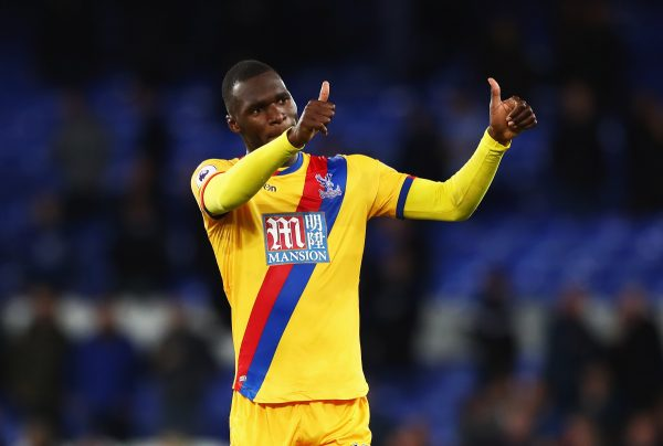 LIVERPOOL, ENGLAND - SEPTEMBER 30:  Christian Benteke of Crystal Palace salutes the travelling fans after the Premier League match between Everton and Crystal Palace at Goodison Park on September 30, 2016 in Liverpool, England.  (Photo by Matthew Lewis/Getty Images)