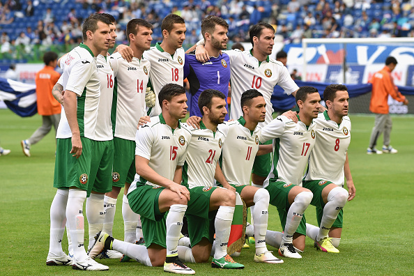SUITA, JAPAN - JUNE 07:  Bulgaria players line up for the team photos prior to the international friendly match between Denmark and Bulgaria at the Suita City Football Stadium on June 7, 2016 in Suita, Osaka, Japan.  (Photo by Atsushi Tomura/Getty Images)
