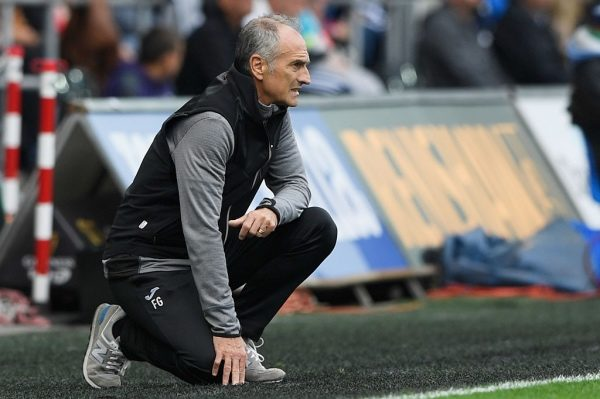 SWANSEA, WALES - SEPTEMBER 24:  Francesco Guidolin manager of Swansea City looks on from the touchline during the Premier League match between Swansea City and Manchester City at the Liberty Stadium on September 24, 2016 in Swansea, Wales.  (Photo by Stu Forster/Getty Images)