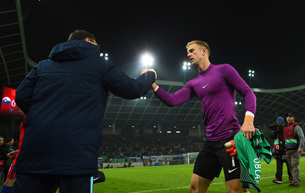 LJUBLJANA, SLOVENIA - OCTOBER 11:  Joe Hart of England leaves the pitch after the FIFA 2018 World Cup Qualifier Group F match between Slovenia and England at Stadion Stozice on October 11, 2016 in Ljubljana, Slovenia.  (Photo by Laurence Griffiths/Getty Images)