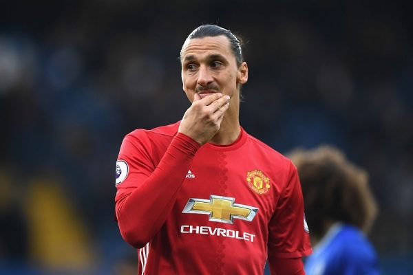 LONDON, ENGLAND - OCTOBER 23:  Zlatan Ibrahimovic of Manchester United looks on during the Premier League match between Chelsea and Manchester United at Stamford Bridge on October 23, 2016 in London, England.  (Photo by Shaun Botterill/Getty Images)