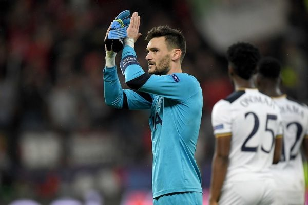 LEVERKUSEN, GERMANY - OCTOBER 18:  Hugo Lloris, goalkeeper of Tottenham reacts after the UEFA Champions League group E match between Bayer 04 Leverkusen and Tottenham Hotspur FC at BayArena on October 18, 2016 in Leverkusen, North Rhine-Westphalia.  (Photo by Matthias Hangst/Bongarts/Getty Images)