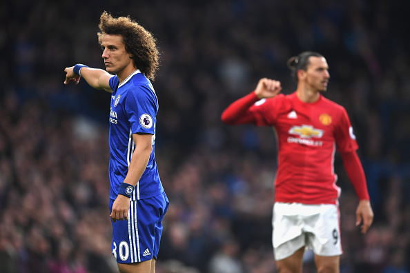 during the Premier League match between Chelsea and Manchester United at Stamford Bridge on October 23, 2016 in London, England.