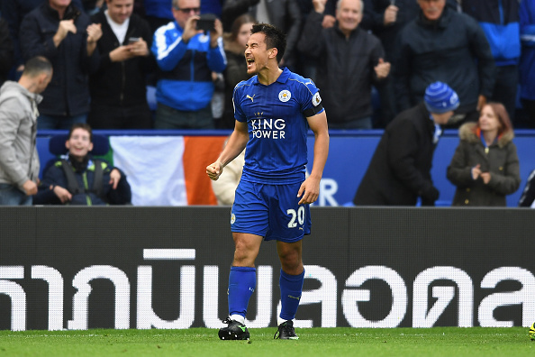 during the Premier League match between Leicester City and Crystal Palace at The King Power Stadium on October 22, 2016 in Leicester, England.