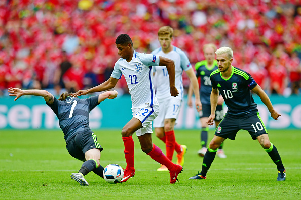 during the UEFA EURO 2016 Group B match between England and Wales at Stade Bollaert-Delelis on June 16, 2016 in Lens, France.