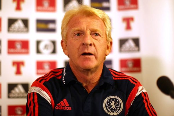 GLASGOW, SCOTLAND - SEPTEMBER 06:  Scotland manager Gordon Strachan looks on during a  press conference, ahead of their UEFA Euro 2016 qualifier against Germany, at Hampden Park on September 06, 2015 in Glasgow, Scotland. (Photo by Ian MacNicol/Getty Images)