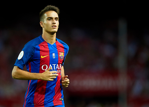 SEVILLE, SPAIN - AUGUST 14:  Denis Suarez of FC Barcelona looks on during the match between Sevilla FC vs FC Barcelona as part of the Spanish Super Cup Final 1st Leg  at Estadio Ramon Sanchez Pizjuan on August 14, 2016 in Seville, Spain.  (Photo by Aitor Alcalde/Getty Images)