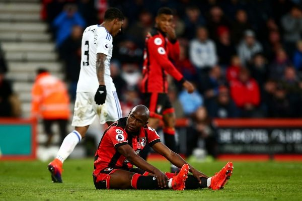 BOURNEMOUTH, ENGLAND - NOVEMBER 05: Benik Afobe of AFC Bournemouth reacts to a missed chance during the Premier League match between AFC Bournemouth and Sunderland at Vitality Stadium on November 5, 2016 in Bournemouth, England.  (Photo by Jordan Mansfield/Getty Images)