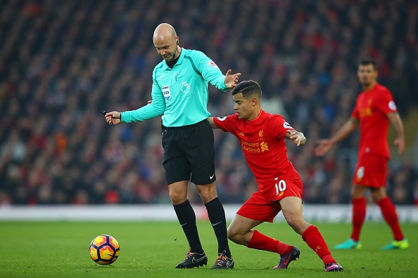 during the Premier League match between Liverpool and Sunderland at Anfield on November 26, 2016 in Liverpool, England.