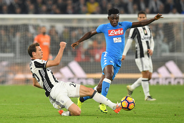 during the Serie A match between Juventus FC and SSC Napoli at Juventus Stadium on October 29, 2016 in Turin, Italy.