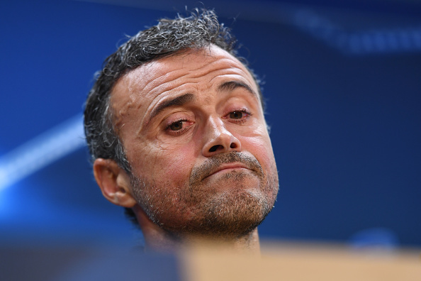 BARCELONA, SPAIN - OCTOBER 18:  Luis Enrique the head coach of Barcelona speaks to the media during the FC Barcelona press conference at Ciutat Esportiva Joan Gamper on October 18, 2016 in Barcelona, Spain.  (Photo by David Ramos/Getty Images)
