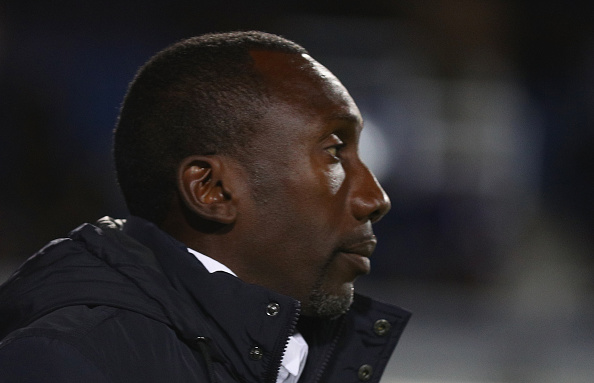 LONDON, ENGLAND - OCTOBER 18:  Queens Park Rangers manager Jimmy Floyd Hasselbaink during the Sky Bet Championship match between Queens Park Rangers and Bristol City at Loftus Road on October 18, 2016 in London, England.  (Photo by Ian Walton/Getty Images)