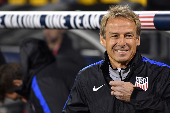 COLUMBUS, OH - NOVEMBER 11: Head coach Jrgen Klinsmann of the United States looks on against Mexico in the first half during the FIFA 2018 World Cup Qualifier at MAPFRE Stadium on November 11, 2016 in Columbus, Ohio. (Photo by Jamie Sabau/Getty Images)
