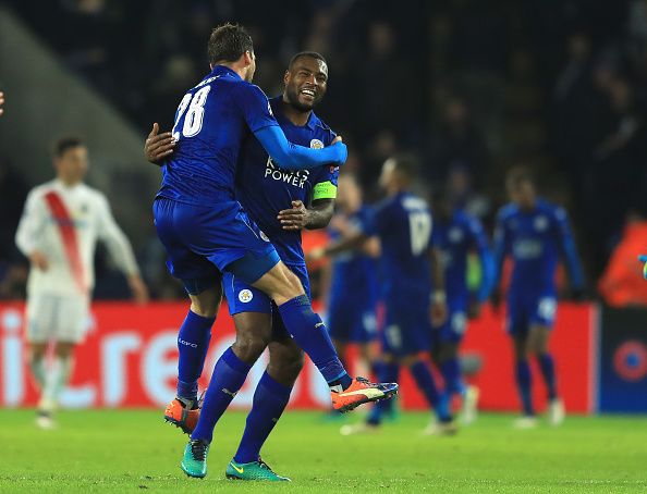 during the UEFA Champions League match between Leicester City FC and Club Brugge KV at The King Power Stadium on November 22, 2016 in Leicester, England.