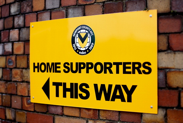 NEWPORT, WALES - DECEMBER 01: View of a sign outside the ground ahead of the Sky Bet League Two match between Newport County AFC and Chesterfield at Rodney Parade on December 01, 2013 in Newport, Wales, (Photo by Ben Hoskins/Getty Images)