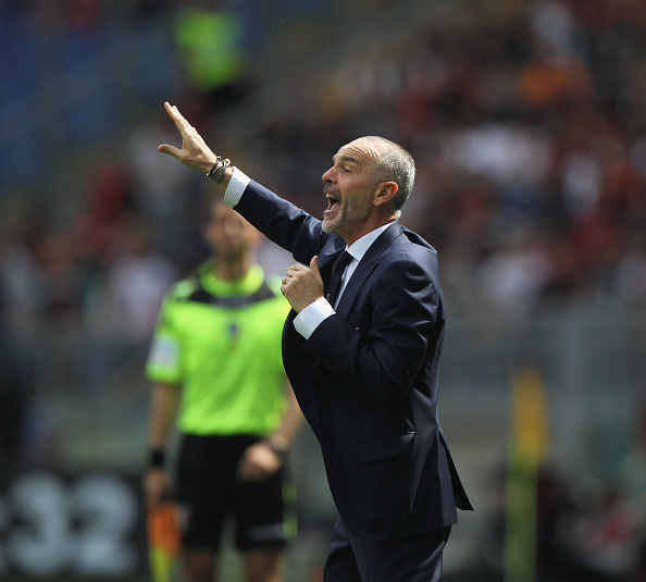 ROME, ITALY - APRIL 03:  SS Lazio head coach Stefano Pioli reacts during the Serie A match between SS Lazio and AS Roma at Stadio Olimpico on April 3, 2016 in Rome, Italy.  (Photo by Paolo Bruno/Getty Images)