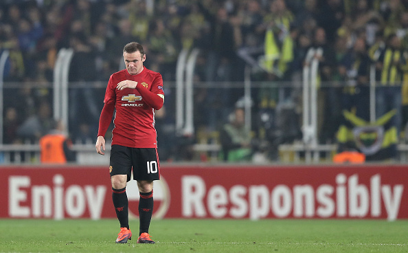 ISTANBUL, TURKEY - NOVEMBER 03:  Wayne Rooney of Manchester United looks on during the UEFA Europa League Group A match between Fenerbahce SK and Manchester United FC at Sukru Saracoglu Stadium on November 3, 2016 in Istanbul, Turkey.  (Photo by Chris McGrath/Getty Images)
